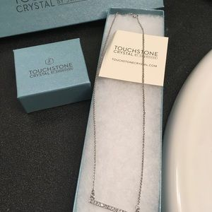 Swarovski crystal bar necklace and ring size 6